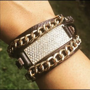 Beautiful Leather Bracelet Dark Brown